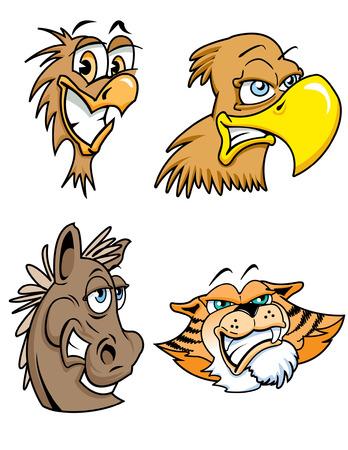 Various illustrations of Cartoon Animals Vector