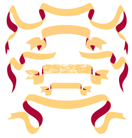 Banner scrolls 向量圖像
