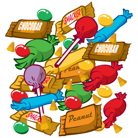 An Illustration of a bunch of candies