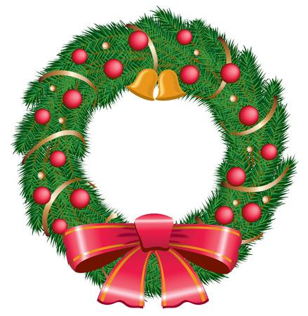 An Illustration of a festive christmas wreath