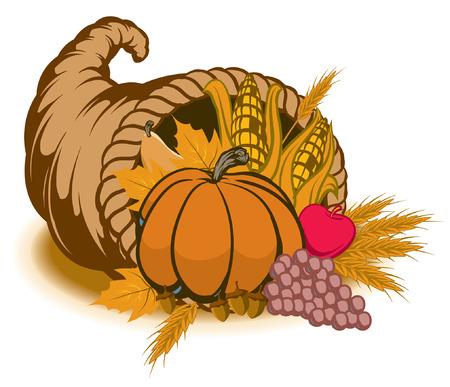 秋の宝庫のイラスト  イラスト・ベクター素材