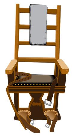형사 처벌 자본 범죄 전기 의자 일러스트
