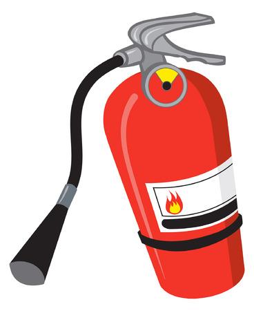 Une illustration d'un extincteur rouge Banque d'images - 35459789