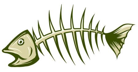 Une illustration de vert et blanc en arête de poisson Banque d'images - 35459960