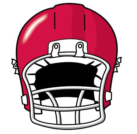 red team sport football helmet