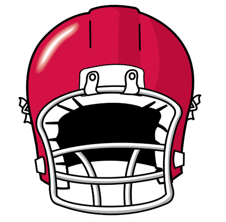 picked: red team sport football helmet