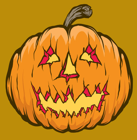 An Illustration of a Jack o lantern 版權商用圖片 - 35460056