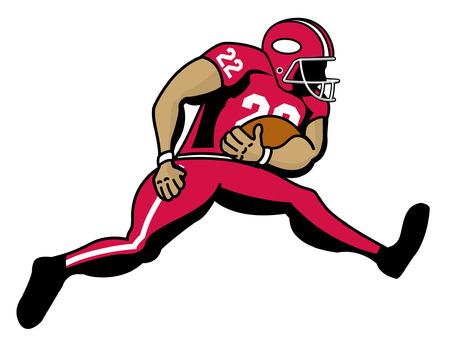 scat: cartoon of football running back
