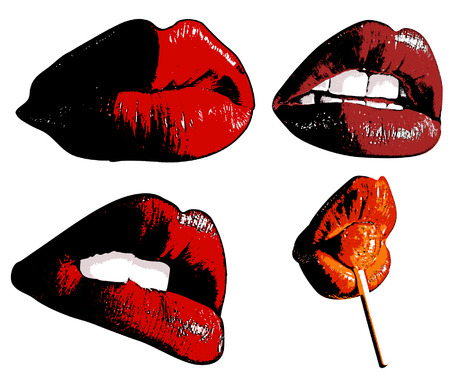 lips smile: Sexy Lips Illustration