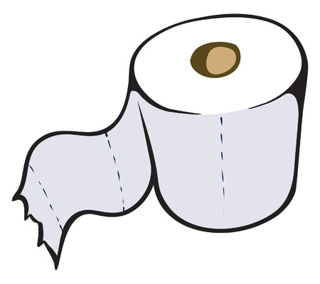 An Illustration of a single roll of toilet paper