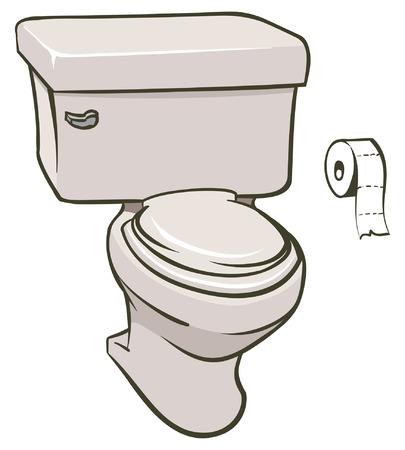 화장실의 그림과 조직의 롤 일러스트