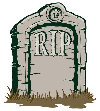 石墓石 rip のイラスト  イラスト・ベクター素材
