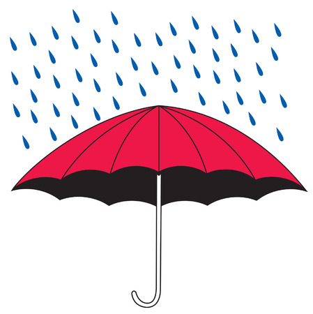 An Illustration of an umbrella shielding the rain