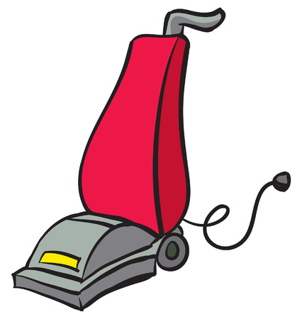 vacuum cleaner: An Illustration of a Red and Gray Vacuum