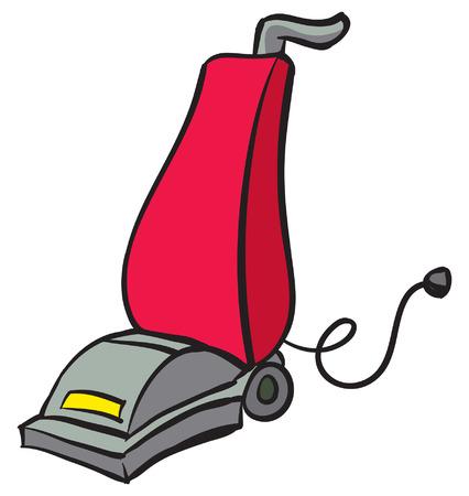Eine Illustration einer rot und grau Vacuum