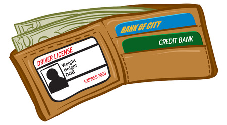 An Illustration of a wallet full of money