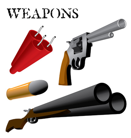 Various Weapons and Ammunition in perspective 版權商用圖片 - 35460200