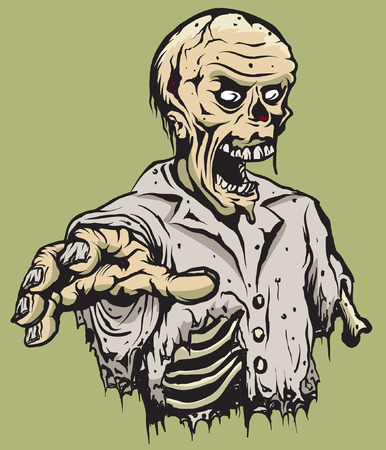 An Illustration of a half torso of a zombie