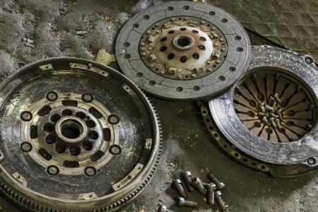 flywheel: Component parts of a clutch mechanism for a motor vehicle