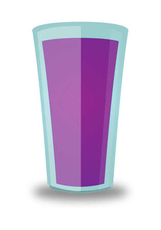 quencher: Grape Beverage Glass  Illustration
