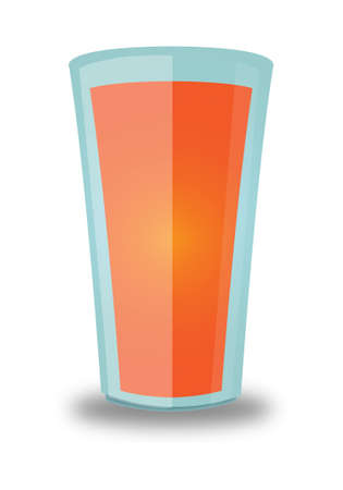 quencher: Orange Beverage Glass