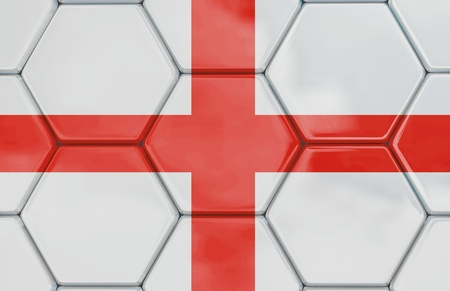Soccer texture with a English flag, Created in 3D software,  Stock Photo