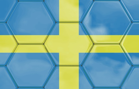Soccer texture with a swedish flag, Created in 3D software,  Stock Photo
