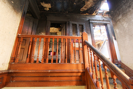 fire damage: Fire Damage In Home