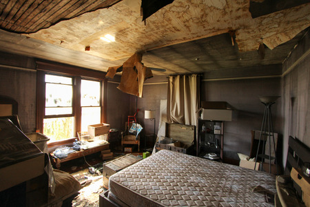 restoration: Fire Damage in Bedroom