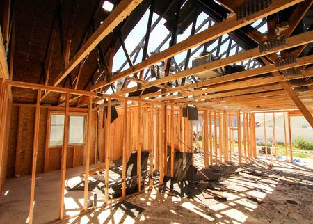 Brandschade Demolition Stockfoto