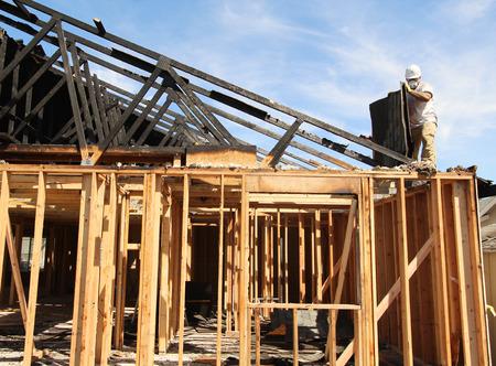 Feuerschaden Demolition Standard-Bild - 44009770