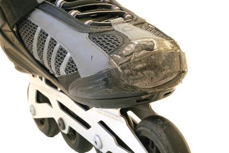 worn: worn inline skate