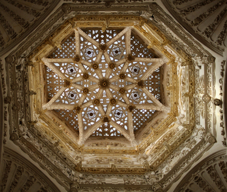The interior dome of the Burgos Cathedral Archivio Fotografico