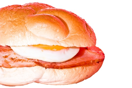 ベーコンと卵の朝食サンドイッチ 写真素材