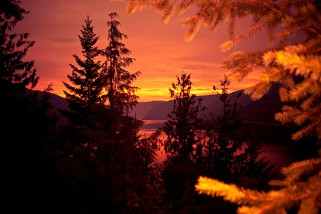 Sunset on a mountain valley. Stock Photo - 8816515