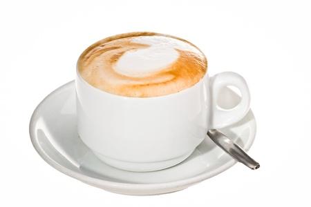 一杯のコーヒーの泡で