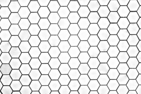Honeycomb design for a wall tile or floor in shape of heptagon, luxury home design, very clean place also perfect lightning. 写真素材