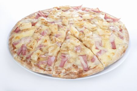 Potatoes mixed cheese pizza design, vegetable mixed food design, background is white color, inside of a hotel or luxury home kitchen.