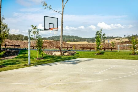 Spacious basketball court