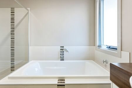 Lavish bathtub and glass panel