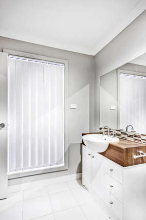 A luxury and bright bathroom interior design Фото со стока