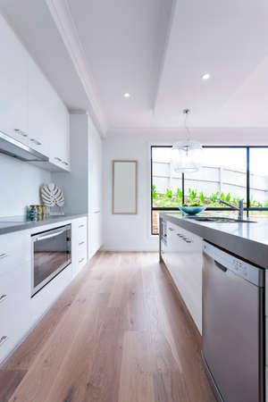 Interior shot of modern and luxury kitchen design Archivio Fotografico
