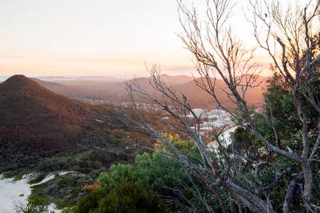 Beautiful sunset over the Shoal Bay, Australia