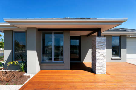 A modern and luxury house exterior design Imagens