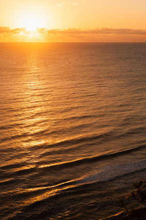 Beautiful sunrise over the sea in Australia