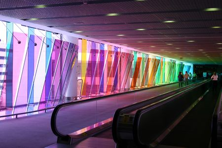 A fun shot taken at the Miami International Airport.