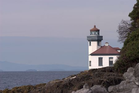 Lighthouse on San Juan Island, WA.