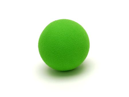 Isolated shot of a green ball. Stok Fotoğraf