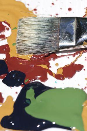 Abstract painting shot in studio lighting still wet. Stock Photo - 3234878