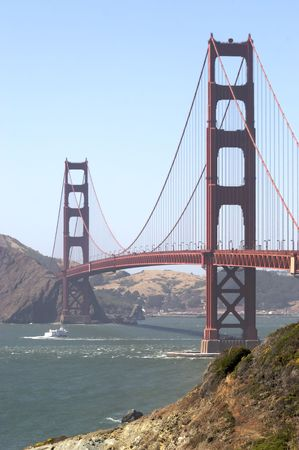 A shot of the Golden Gate Bridge taken from Baker Beach Stock Photo - 3280184